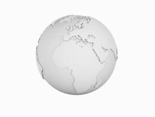 Wire frame world globe