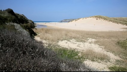 Penhale Sands Holywell Bay North Cornwall UK