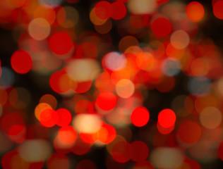 De focused of night city.Bokeh effect lighting