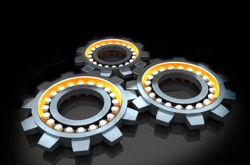 technology gears, 3d  illustration.