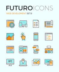 Web develop futuro line icons