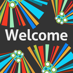 Welcome Dark Colorful Elements