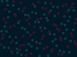 Flat bubbles background