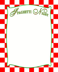 Italian red and white checkere background with white insert