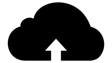 A cloud with an arrow (black)