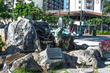 Makua and Kila Sculpture in Waikiki, Hawaii
