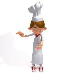 Chef 3d illustration