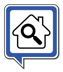 Logo maison et diagnostic.