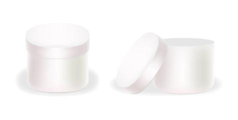 Vector white boxes