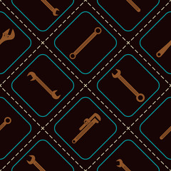 Seamless background with diffrent wrench for your design