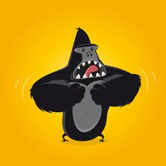 gorilla affe brust trommeln