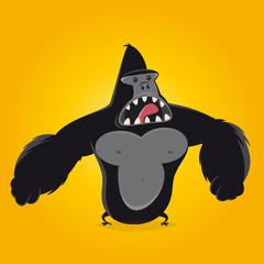 gorilla affe cartoon
