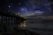 Starry night at Oceanside (San Diego) Pier.