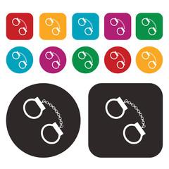 Handcuffs icon. vector