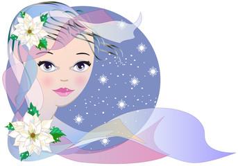 Winter - Allegoria dell'inverno con viso femminile