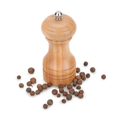 Black pepper and mill