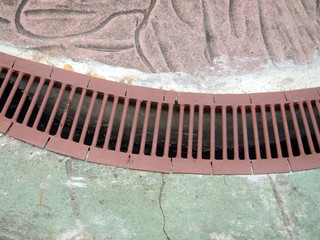 Storm water drain close up