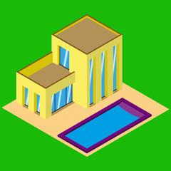 коттедж с бассейном