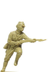 soldiers attack plastic toy