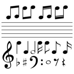Set of music notes - illustration