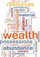 Wealth wordcloud concept illustration