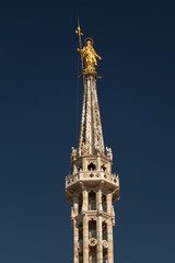 Statue of the Madonna on top of the Milan Cathedral