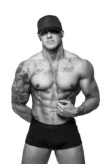 Awesome man with tattooes