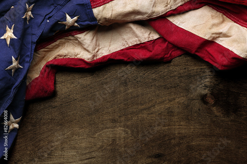 Old American flag background dla Memorial Day lub 4th of July