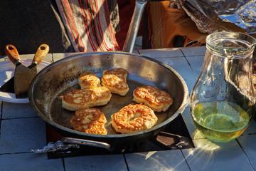 Traditional raised pancakes