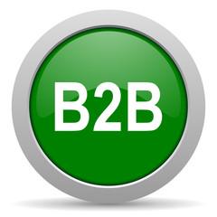 b2b green glossy web icon