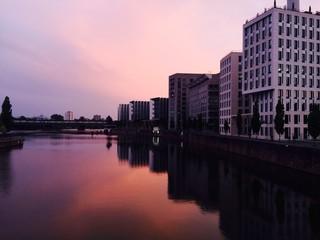 Sonnenuntergang Westhafen Frankfurt