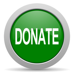 donate green glossy web icon