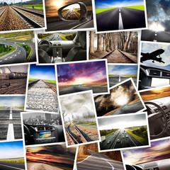 viaggiare in cartolina collage