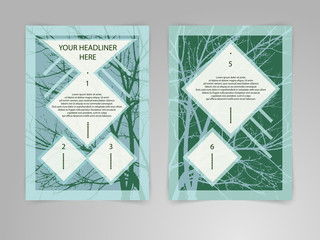 Abstract Brochure Flyer design vector template in A4 size.