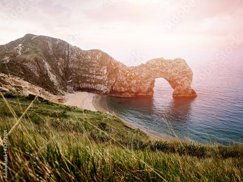 Poster Küste mit Abendlicht