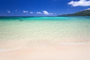tropischer Strand in Blautönen