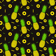 Seamless pineapples pattern