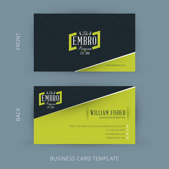 Vector modern creative and clean business card template
