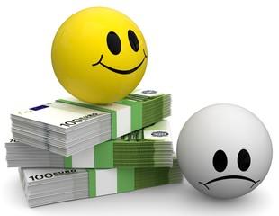 Smiley reich und arm