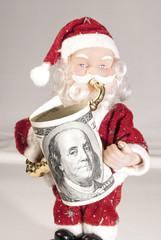 Dollar Santa - Christmas shopping concept