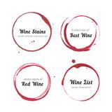Fototapety Wine stain circles