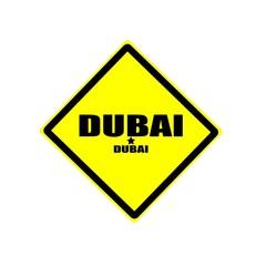 Dubai  black stamp text on yellow background