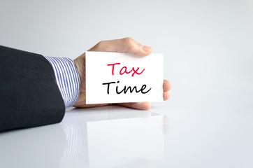 Hand writing Tax Time
