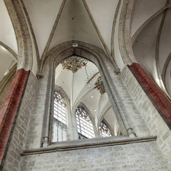 part of interior in breda cathedral in the netherlands