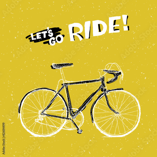 Bicycle Illustration with Phrase