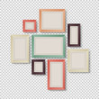 Sticker - Group of Colorful Frames on Transparent Background