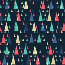 Geometryczny wzór retro bezszwowe trójkąty