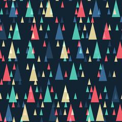 Geometric retro triangles seamless pattern