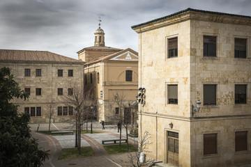 Herrasti square in Rodrigo town - Spain