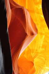 Colored canyon under natural sunlight. Antelope canyon .